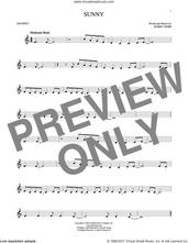 Cover icon of Sunny sheet music for trumpet solo by Bobby Hebb, intermediate skill level