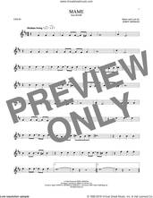 Cover icon of Mame sheet music for violin solo by Jerry Herman, intermediate skill level