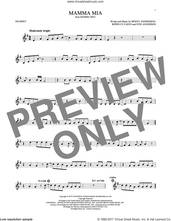 Cover icon of Mamma Mia sheet music for trumpet solo by ABBA, Meryl Streep, Benny Andersson, Bjorn Ulvaeus and Stig Anderson, intermediate skill level