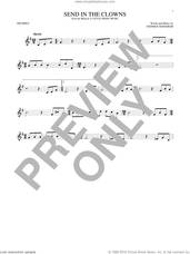 Cover icon of Send In The Clowns sheet music for trumpet solo by Stephen Sondheim, intermediate skill level