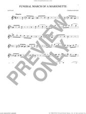 Cover icon of Funeral March Of A Marionette sheet music for alto saxophone solo by Charles Gounod, classical score, intermediate skill level