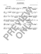 Cover icon of Badinerie (Suite No. 2) sheet music for alto saxophone solo by Johann Sebastian Bach, classical score, intermediate skill level