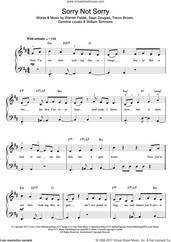 Cover icon of Sorry Not Sorry sheet music for piano solo (beginners) by Demi Lovato, Demitria Lovato, Sean Douglas, Trevor Brown, Warren Felder and William Simmons, beginner piano (beginners)