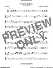 Cover icon of Symphony No. 5 In C Minor, First Movement Excerpt sheet music for tenor saxophone solo by Ludwig van Beethoven, classical score, intermediate skill level