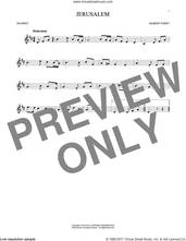 Cover icon of Jerusalem sheet music for trumpet solo by C.H. Parry, intermediate skill level