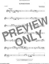 Cover icon of Superstition sheet music for clarinet solo by Stevie Wonder, intermediate skill level