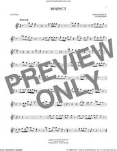 Cover icon of Respect sheet music for alto saxophone solo by Aretha Franklin and Otis Redding, intermediate skill level