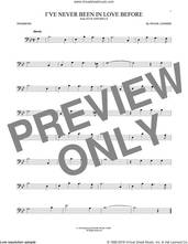 Cover icon of I've Never Been In Love Before sheet music for trombone solo by Frank Loesser, Billy Eckstine, Chet Baker and Stan Kenton, intermediate skill level
