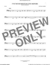 Cover icon of I've Never Been In Love Before sheet music for cello solo by Frank Loesser, Billy Eckstine, Chet Baker and Stan Kenton, intermediate skill level