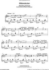Cover icon of Malarskolan sheet music for piano solo by Benny Andersson, intermediate skill level