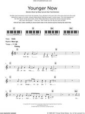 Cover icon of Younger Now sheet music for piano solo (keyboard) by Miley Cyrus and Oren Yoel Kleinman, intermediate piano (keyboard)