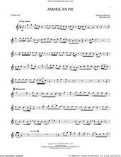 Cover icon of American Pie sheet music for tenor saxophone solo by Don McLean, intermediate skill level