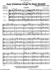 Cover icon of Easy Christmas Songs For Brass Quartet (COMPLETE) sheet music for brass quartet by Charles D. Yates, intermediate skill level