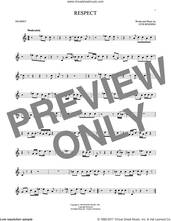 Cover icon of Respect sheet music for trumpet solo by Aretha Franklin and Otis Redding, intermediate skill level