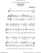 Cover icon of Micah 6:8/ For I Desire Mercy sheet music for choir (SAB: soprano, alto, bass) by Stephen Michael Newby, intermediate skill level