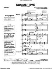Cover icon of Summertime sheet music for band (classroom band pack) by George Gershwin, intermediate skill level
