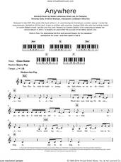 Cover icon of Anywhere sheet music for piano solo (keyboard) by Rita Ora, Alessandro Lindblad, Ali Tamposi, Andrew Wotman, Brian Lee, Nicholas Gale and Nolan Lambroza, intermediate piano (keyboard)