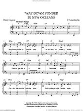 Cover icon of Way Down Yonder In New Orleans sheet music for piano solo by Layton, intermediate skill level