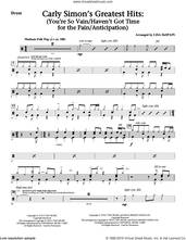 Cover icon of Carly Simon's Greatest Hits: A Choral Medley (arr. Lisa Despain) sheet music for orchestra/band (bass) by Carly Simon and Lisa DeSpain, intermediate skill level