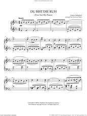 Cover icon of Du Bist Die Ruh (You Are My Peace) sheet music for piano solo by Franz Schubert, intermediate skill level