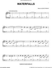 Cover icon of Waterfalls sheet music for piano solo by Alexis Ffrench, classical score, intermediate skill level