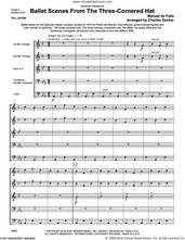 Cover icon of Ballet Scenes From The Three-cornered Hat (COMPLETE) sheet music for brass quintet by Manuel De Falla and Charles Decker, classical score, intermediate skill level
