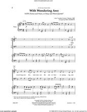 Cover icon of With Wondering Awe sheet music for choir (SATB: soprano, alto, tenor, bass) by Neil Harmon, intermediate skill level