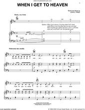 Cover icon of When I Get To Heaven sheet music for voice, piano or guitar by John Prine and John E. Prine, intermediate skill level