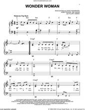 Cover icon of Wonder Woman sheet music for piano solo by Kacey Musgraves, Amy Wadge, Hillary Lindsey and Jesse Frasure, easy skill level