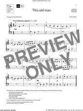 Cover icon of This old man (Grade Initial, list A3, from the ABRSM Piano Syllabus 2021 and 2022) sheet music for piano solo by Trad. English and David Blackwell, classical score, intermediate skill level