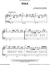 Cover icon of exile (feat. Bon Iver) sheet music for piano solo by Taylor Swift, Bon Iver, Justin Vernon and William Bowery, easy skill level