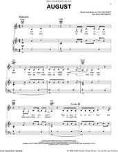 Cover icon of august sheet music for voice, piano or guitar by Taylor Swift and Jack Antonoff, intermediate skill level