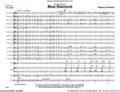 Cover icon of Blue Diamond (COMPLETE) sheet music for jazz band by Gregory Yasinitsky, intermediate skill level