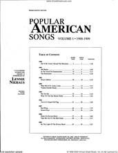Cover icon of Popular American Songs, Volume 1 - 1st Trumpet sheet music for brass quintet by Lennie Niehaus and Miscellaneous, intermediate skill level