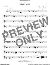 Cover icon of Mary Ann sheet music for Marimba Solo by Roaring Lion and Rafael De Leon, intermediate skill level