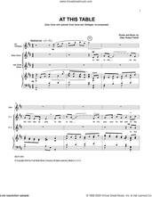 Cover icon of At This Table sheet music for voice and piano by Allan Robert Petker, intermediate skill level
