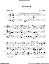 Cover icon of Create In Me sheet music for voice and piano by Nick Strimple and Psalm 51, intermediate skill level