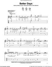 Cover icon of Better Days sheet music for guitar solo (easy tablature) by OneRepublic, Brent Kutzle, John Nathaniel and Ryan Tedder, easy guitar (easy tablature)