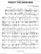 Cover icon of Frosty The Snow Man [Jazz Version] (arr. Brent Edstrom) sheet music for voice and piano (High Voice) by Steve Nelson, Brent Edstrom and Jack Rollins, intermediate skill level