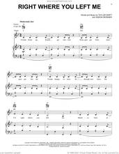 Cover icon of right where you left me sheet music for voice, piano or guitar by Taylor Swift and Aaron Dessner, intermediate skill level