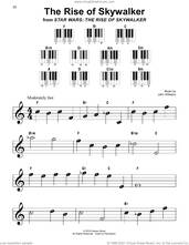 Cover icon of The Rise of Skywalker sheet music for piano solo by John Williams, beginner skill level
