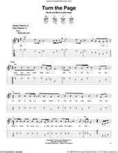 Cover icon of Turn The Page sheet music for guitar solo (easy tablature) by Bob Seger and Metallica, easy guitar (easy tablature)