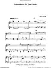 Cover icon of Theme from Six Feet Under sheet music for piano solo by Thomas Newman, easy skill level