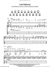 Cover icon of Lost Highway sheet music for guitar (tablature) by Bon Jovi, John Shanks and Richie Sambora, intermediate skill level