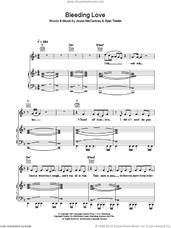 Cover icon of Bleeding Love sheet music for voice, piano or guitar by Leona Lewis, Jesse McCartney and Ryan Tedder, intermediate skill level