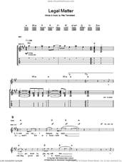 Cover icon of Legal Matter sheet music for guitar (tablature) by The Who and Pete Townshend, intermediate skill level