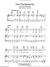 Cover icon of From This Moment On (from Kiss Me, Kate) sheet music for voice, piano or guitar by Cole Porter, intermediate skill level