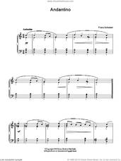 Cover icon of Andantino sheet music for piano solo by Franz Schubert, classical score, easy skill level