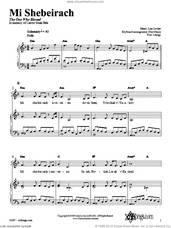 Cover icon of Mi Shebeirach sheet music for voice, piano or guitar by Lisa Levine, intermediate skill level