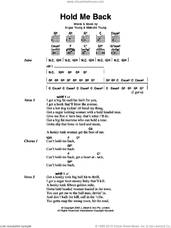 Cover icon of Hold Me Back sheet music for guitar (chords) by AC/DC, Angus Young and Malcolm Young, intermediate skill level